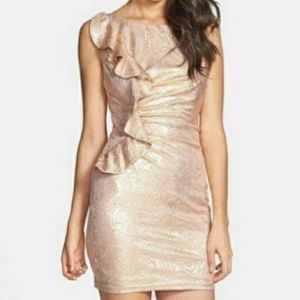 Adrianna Pappel gold silver cocktail dress